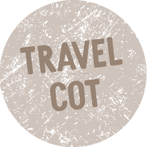 Text saying Travel Cot