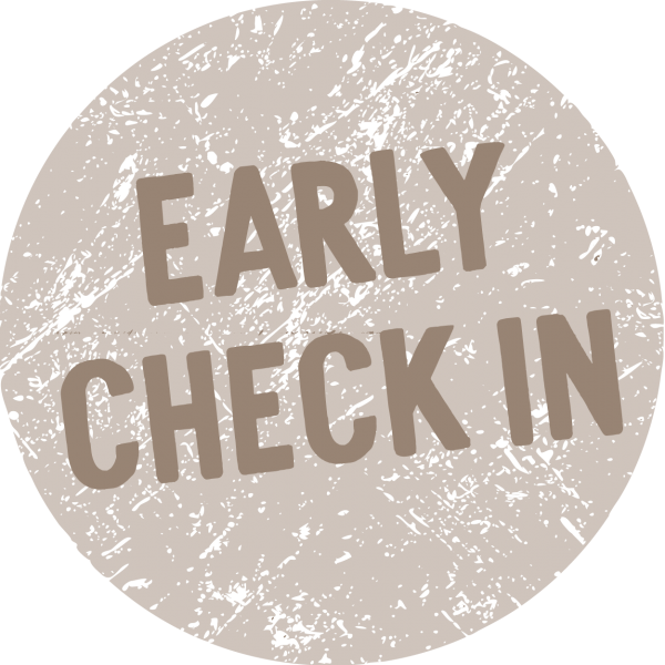 Text saying Early Check In