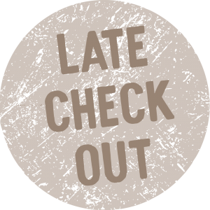 Text saying Late Check Out