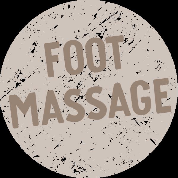 Text saying Foot masaage